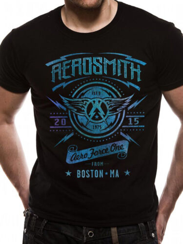 Aerosmith Aero Force One Licensed Steven Tyler American Rock Black Mens T-shirt