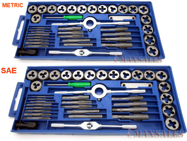 Hardened Alloy Steel 9 Piece Punch and Die Set w// Clear Plate for Easy Alignment