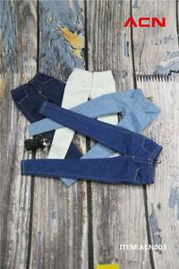 """ACNTOYS 1//6 Female Slim Jeans Pants Clothes Fit 12/"""" Phicen TBLeague Figure Body"""