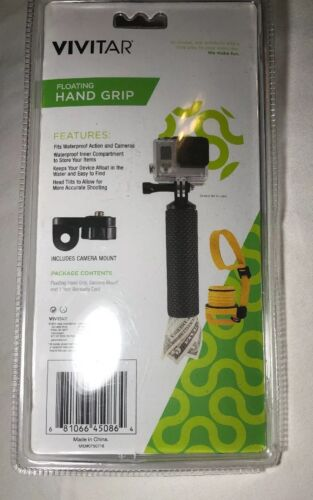 Vivitar Hand Grip Action Camera Camcorder Floating Mount Storage in Handle GoPro