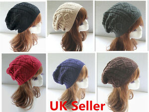 89a0c6981e2 Image is loading Men-Women-Ladies-Knitted-Winter-Oversized-Slouch-Beanie-