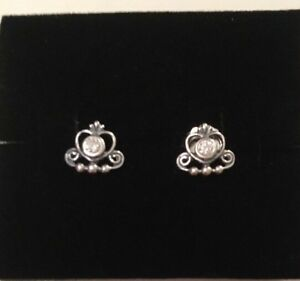 ea9b783a771bf Details about Pandora Tiara Stud Earrings With Cubic Zirconia Brand New In  Gift Box