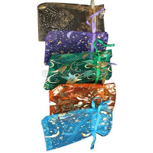 50 un Colgante De Organza Caramelo De Joyería color mezclado Mini Bolsa De Regalo Bolsas De Boda