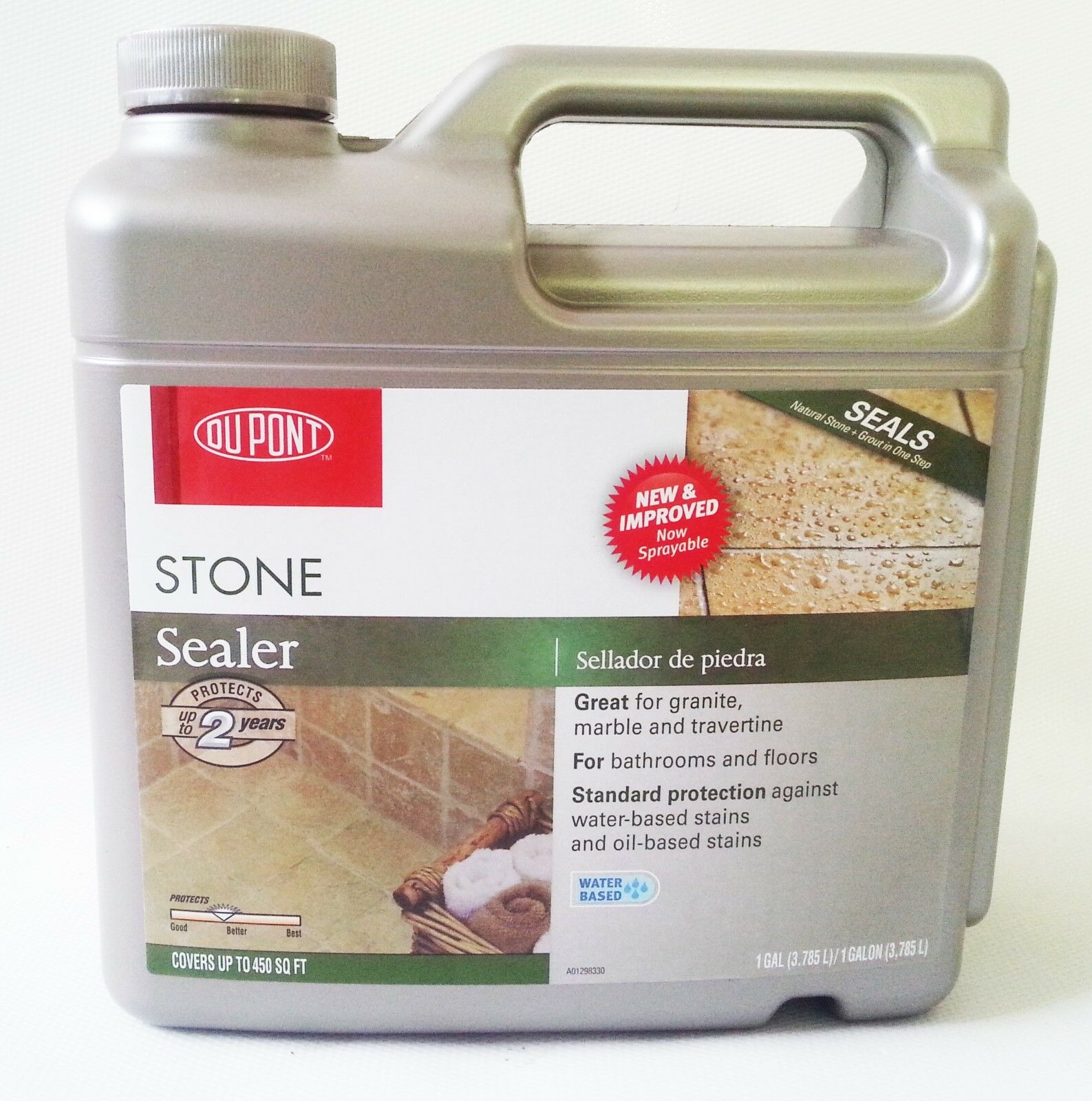 DuPont Natural Stone Granite Marble & Grout Tile Sealer for Floor 1 Gallon New