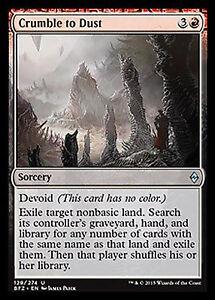 Red Battle for Zendikar Mtg Magic Uncommon 1x x1 1 FOIL Crumble to Dust