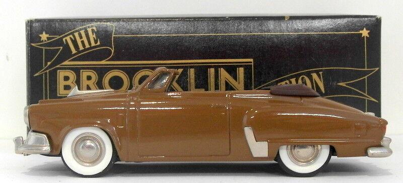 Brooklin maßstab 1  43 brk17a 002b - 1952 studebaker commander conv braun