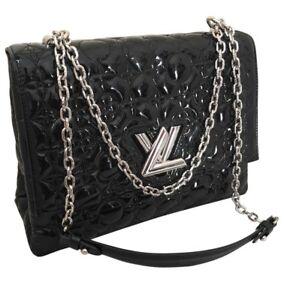 14e20cf07f7a Image is loading Louis-Vuitton-Grand-Monogram-Flower-Malletage-Twist-Leather -