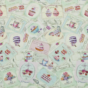 Image Is Loading Shabby Chic Duckegg Patisserie PVC Vinyl Wipe Clean