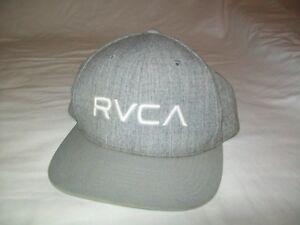 pretty nice 5eeb2 1d282 new zealand image is loading rvca snapback solid gray heather hat cap 80  f057a 99c9a