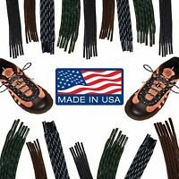 Round Hiking Boot Shoelaces - 36 40 45 54 63 72 Inch Laces - Boot Strings -
