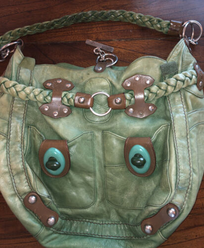 Jamin Peuch Green Super Funky Bag Great Condition