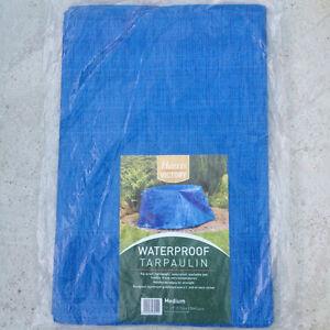 2.7m x 3.5m Waterproof Tarpaulin Ground Sheet Camping Cover Green