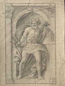 Details About Old Master Drawing Of Poseidon Neptune German Heraldic Collectors Mark