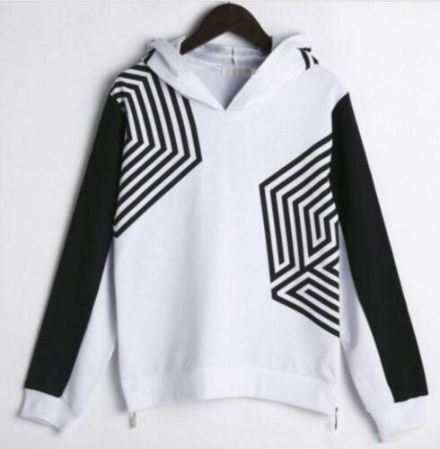 Kpop Mens Long Sleeve SWEATER Hoodies Fans Loose Tops Straps Jumpsuits Sets N925