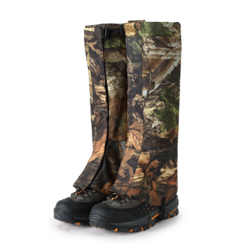 2pcs XL Camo Waterproof Outdoor Camping Hiking Hunting Snow Legging Gaiters