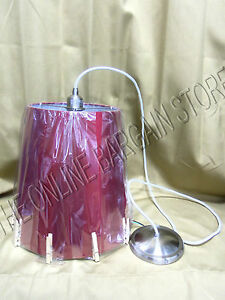 Pottery Barn Kids PB Teen Ceiling Clip Light Chandelier Pendant RED lamp shade