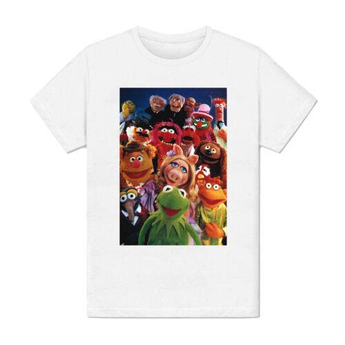 Kermit Piggy Gonzo série TV vintage T-shirt Homme The Muppet Show