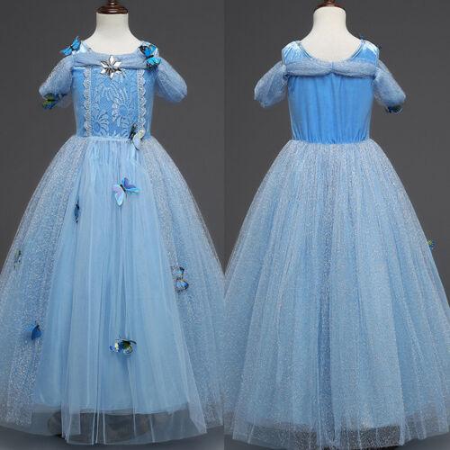 Eiskönigin Frozen Mädchen Prinzessin Elsa Kleid Eisprinzessin Cosplay Kostüm