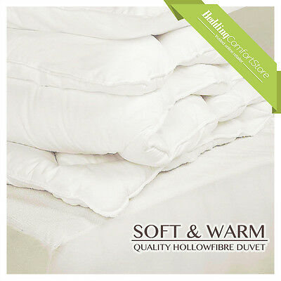 Soft Non Allergenic Synthetic Hollowfibre Duvet - All Sizes 4.5 10.5 13.5 15 Tog