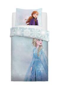Disney Frozen 2 Single Duvet Quilt Cover Reversible Bedding Set Elsa Design