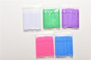 100X Disposable Eyelash Extension Micro Brushes Applicators Dental AssistingFO