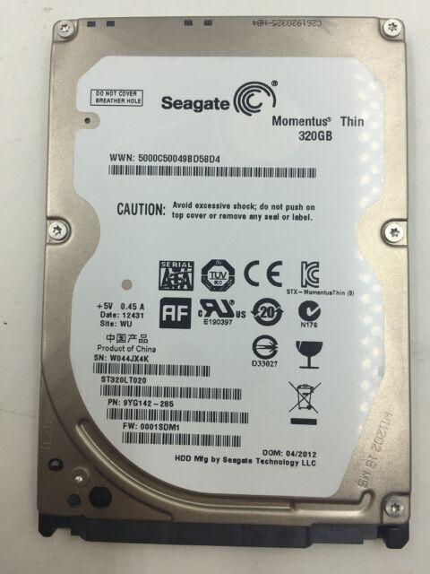 SEAGATE MOMENTUS THIN 320GB DRIVERS FOR WINDOWS XP