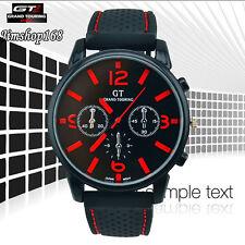 Fashion Men's Watch Cool GT Stainless Steel Sport Analog Quartz Wrist Watch