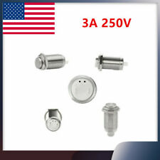 2pcs 12mm Stainless Steel Self Lock Push Button Switch Waterproof Onoff 3a 250v