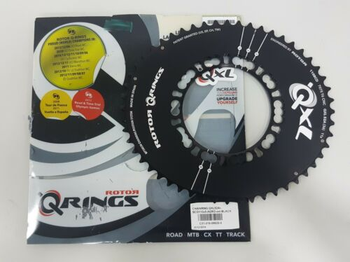 Rotor QXL Rings Aero BCD 110mm x 5 Bolt Road Outer Chainring Black 50T,52T,53T