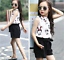 2pcs Kids Baby Girls Korean Fashion Summer Suit Sleeveless Blouse+Shorts Outfits