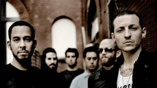 Linkin Park Mike Shinoda Brad Delson Dave Silk Poster//Wallpaper 24 X 13 inches