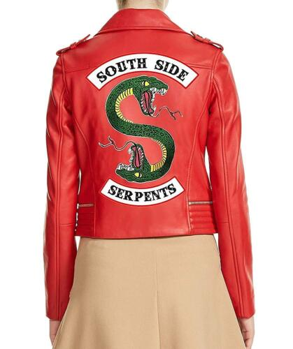 Blossom Gang Cheryl Faux Southside Riverdale Red Jacket Womens Leather Serpents xIXPn1