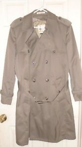 Misty-Harbor-Men-039-s-Double-Breasted-Trench-Coat-Beige-Size-42R-Zip-Out-Lining