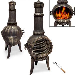 Terrassenofen Ofen Gartenofen Gartenkamin Kamin Feuerstelle Feuerkorb Guss Holz