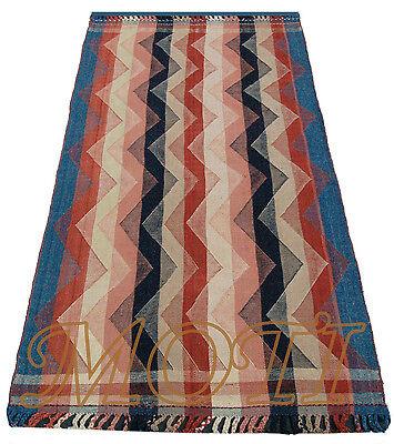 Kelim Gjajim / Jajim 207 x 108 Gashghai Nomaden Perser Teppich Rug Tapis Tappeto
