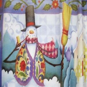 Image Is Loading WISH UPON A SNOWMAN Christmas Fabric Shower Curtain