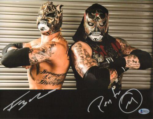 /& Rey Fenix Signed 11x14 Photo BAS COA Lucha Impact Pro Wrestling 5 Pentagon Jr