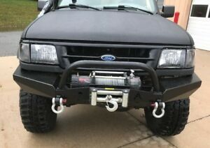 elite ford ranger modular front winch bumper with bull bar 1993 1997 ebay. Black Bedroom Furniture Sets. Home Design Ideas