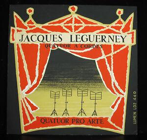 Capable Jacques Leguerney Quatuor à Cordes Pro Arte Dessin Projet Pochette Disque 1948 Lissage De La Circulation Et Des Douleurs D'ArrêT
