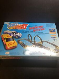 Artin Slot Car Race Set Truck Speedway Lap Counter Chevy Complete In Box