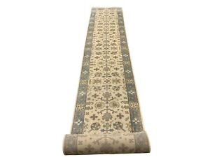 3X24-Oushak-Runner-Ivory-Hand-Knotted-Wool-Oriental-Rug-Carpet-2-7-x-23-7