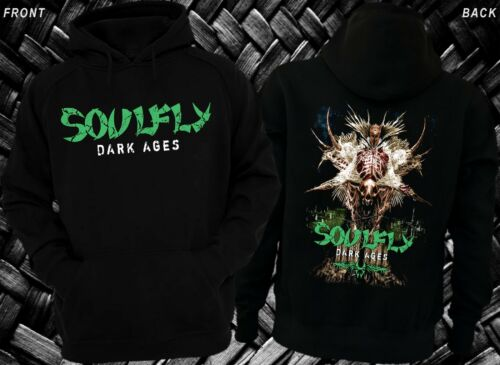 SOULFLY Hoodie-sizes:S to XXL Dark Ages-Thrash metal-Sepultura-Fear Factory