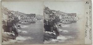 Amalfi-Conventi-di-Capucins-Italia-Fotografia-Stereo-Amateur-Vintage-Albumina
