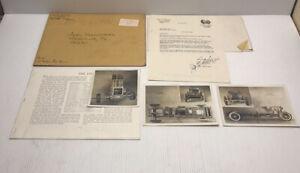 Vintage-Car-Engine-Blueprint-With-Black-amp-White-Photos-Auel-Industries-1974