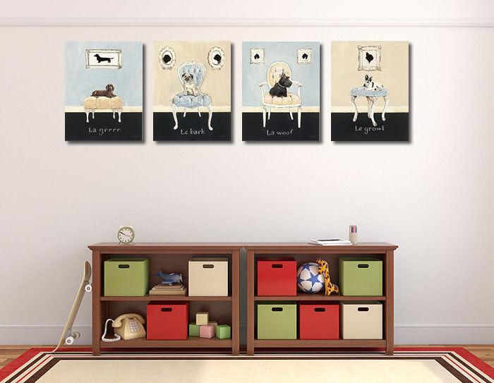 Emily Adams : Le Corteza camilla-imagen de Rústico Pantalla Perro mops Vintage Rústico de fa47b2