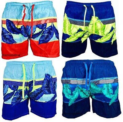 Sonnig Mens Hawaiian Leaf Swim Shorts Beach Palm Multi Pockets Mesh Trunks Holiday Wear Gut FüR Energie Und Die Milz