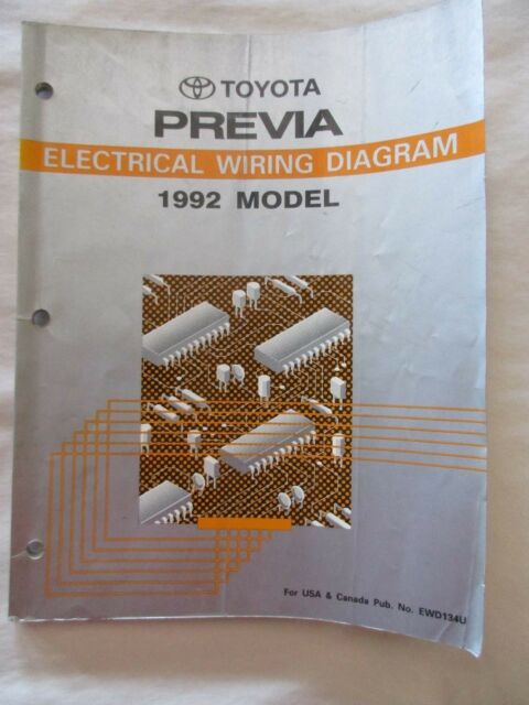 1992 Toyota Previa Electrical Wiring Diagram Manual
