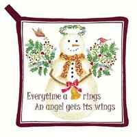 Christmas Snow Angel Holiday Pot Holder