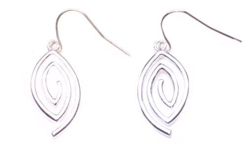 Zx64 Minimalistic Ladies Daring Spiral Oval Simplistic Inspired Earrings Set