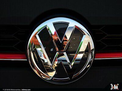 Deep Blue Pearl Metallic VW Rear Badge Insert